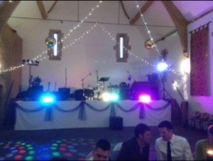 Live Wedding Entertainment Set-Up