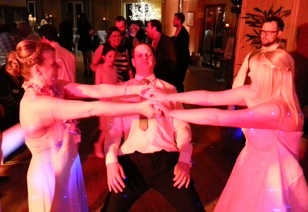 wedding guests dancing to fantastic live music entertainment