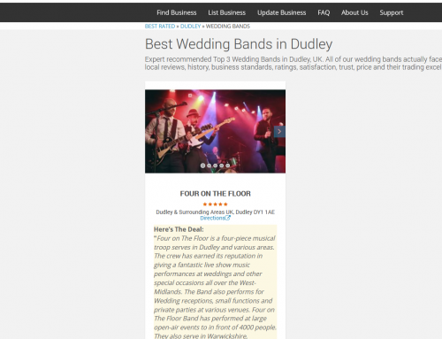 Award winning West Midlands wedding band hire!