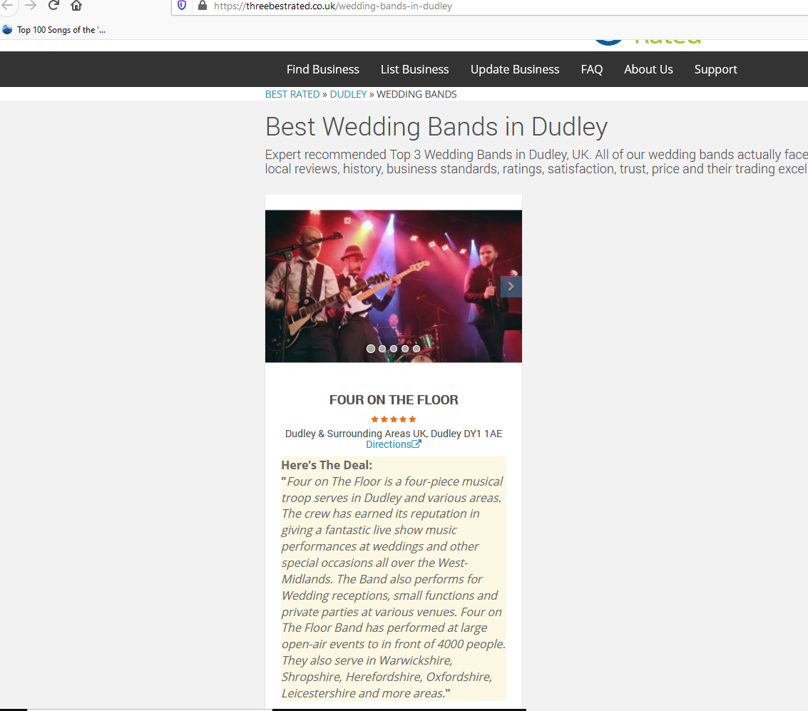 West Midlands wedding band hire